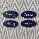 Namn MAJKEN handduksskylt - set om 4 stycken